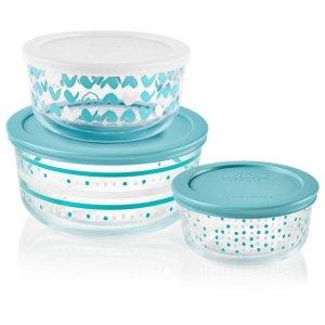 Corelle玻璃保鲜碗 6件套