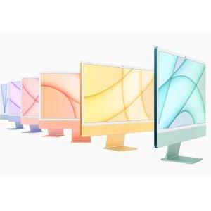 """$1899起 包邮+自营New Apple 24"""" iMac M1芯片,多色可选"""