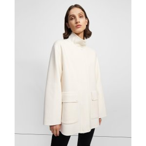 TheoryUtility Coat in Double-Face Wool-Cashmere