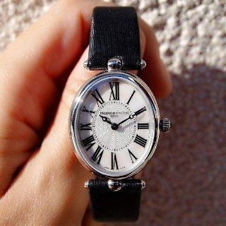 $385 + Free ShippingDealmoon Exclusive: Frederique Constant Art Deco Mother of Pearl Ladies Watch 200MPW2V6