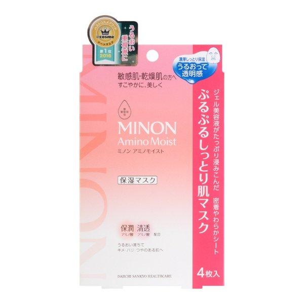 日本第一三共 MINON氨基酸保湿面膜 敏感肌用 4片入 COSME大赏第一位 - 亚米网