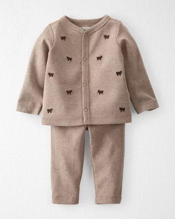 婴儿有机棉套装