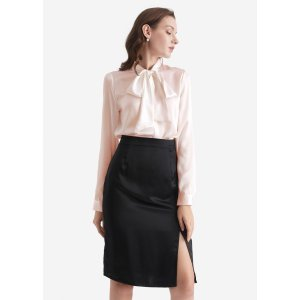 Take $15 off every$100Bow-tie Neck Silk Blouse