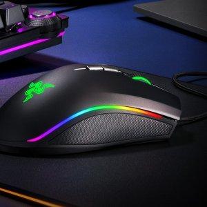 $49.99 (原价$89.99)Razer Mamba 精英版 RGB有线游戏鼠标