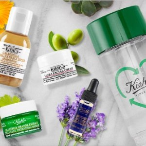 CELEBRATE EARTH DAY4 deluxe samples on $65+ PLUS, a Water Bottle on $100+ @ Kiehl's