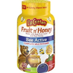 $6L'il Critters Fruit N' Honey Bee Active Complete Multivitamin, 120 Count