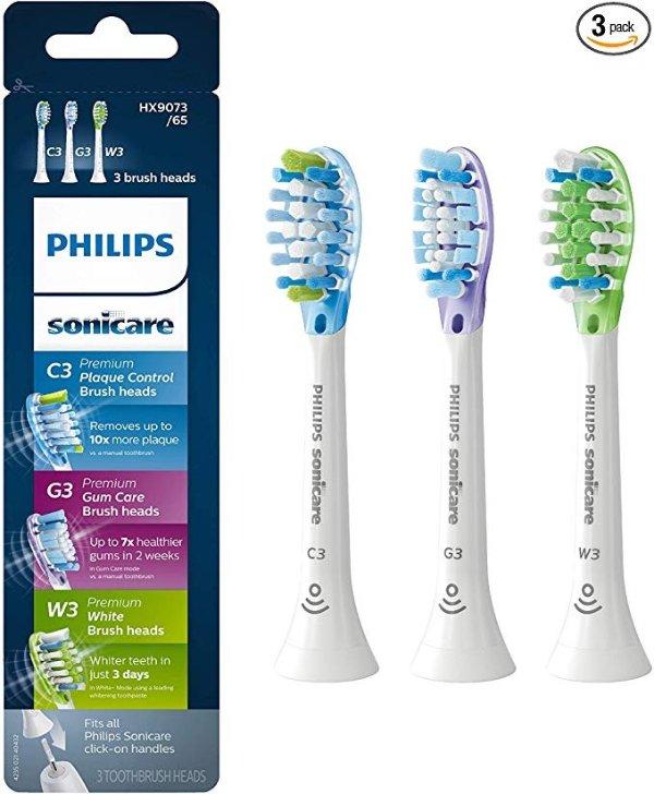 电动牙刷替换刷头 3个装