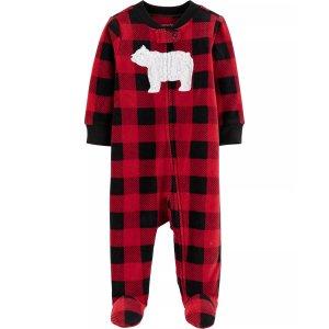 Carter'sBOGO Free,Mix & MatchBuffalo Check Zip-Up Fleece Sleep & Play