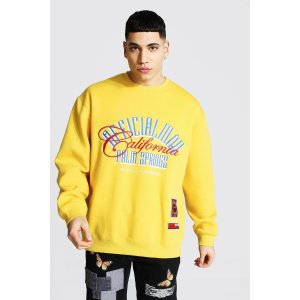 boohooMANOfficial Man Oversized Palm Springs Sweater | boohooMAN