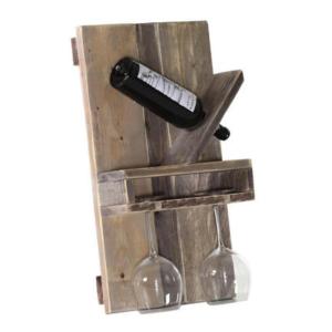 墙面装饰实木红酒架1.1折收 红酒爱好者的家中怎么能少