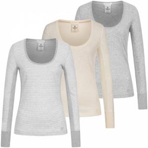 仅€9.99收 三色选Timberland 女式圆领休闲长袖T恤 2.2折特卖 轻薄内搭超保暖