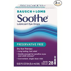 $15.94 包邮  1次性方便携带Bausch & Lomb 博士伦 滋润眼药水 28个 x 2盒 共56个