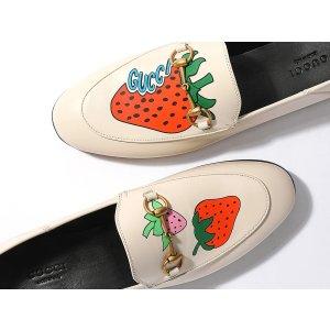Gucci官网定价$890女士草莓乐福鞋 4.5码