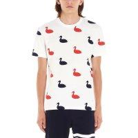 Thom Browne Swan Print Crewneck T恤