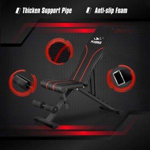 $162.47(原价$228.79)FLYBIRD 多功能家用健身凳 6档倾斜度 可用于各种健身训练