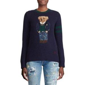Polo Ralph Lauren小熊羊毛绒毛衣