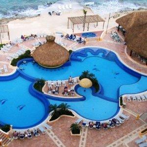 6晚墨西哥一价全包酒店+机票套餐 3晚坎昆,3晚科苏梅尔岛