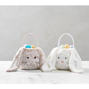 Pottery Barn KidsLong Ear Fur Bunny Easter Treat Bucket