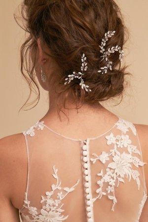 Leaflet Pin Silver  in  Bride | BHLDN