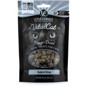 Vital Essentials Rabbit Bites Freeze-Dried Cat Treats, 0.9-oz bag
