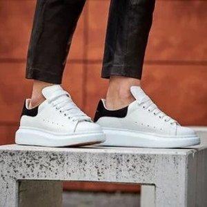 正价8.5折 收断货王雾霾蓝小白鞋Alexander McQueen 小白鞋超全款式专场 心爱美鞋一步到位