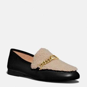 CoachHelena 毛绒乐福鞋