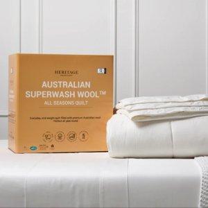 5折起Heritage 精选枕头、被子特价闪促 $20收颈椎枕