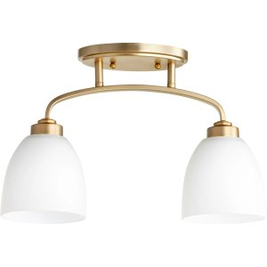 Quorum International 3260-2-80 Aged Brass Reyes 2 Light 16-1/4