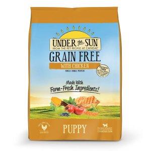 $7.99CANIDAE 鸡肉味幼犬粮 不含谷物 4磅
