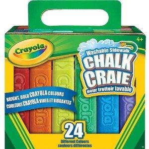 Crayola24色可洗彩色粉笔块