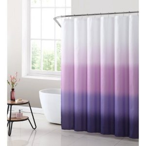 MAINSTAYSPurple Ombre Fabric Shower Curtain, 1 Each