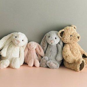 一件包邮 $15收邦尼兔Jellycat 玩偶、毛毯热卖 超可爱玩偶 寿司公仔 安抚玩具