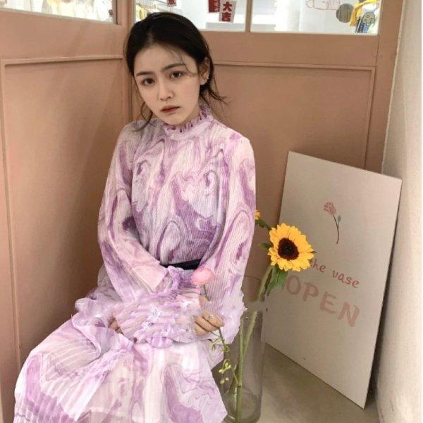梦幻紫连衣裙
