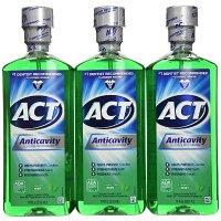 ACT 含氟漱口水 薄荷味 3瓶