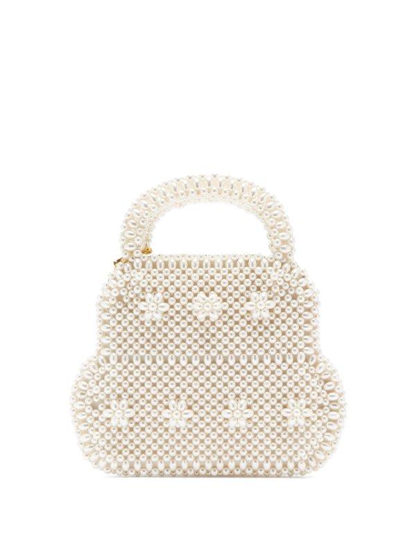白色珍珠包