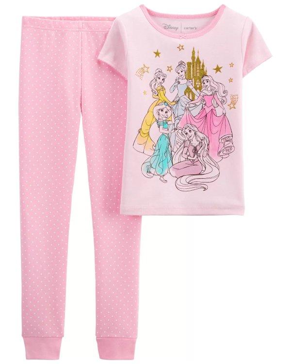 儿童 迪士尼公主 全棉睡衣套装