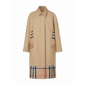Burberry格纹经典大衣