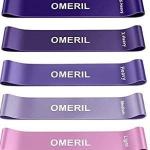 OMERIL家用健身阻力带 5根 附带使用说明及收纳包