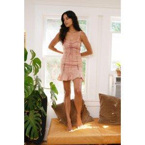 第二件享半价Layla Lace-Up 粉色连衣裙