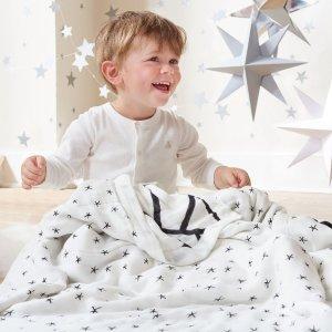 8.5折 收纱布巾 纱布毯 和超柔睡衣最后一天:aden + anais官网 全场优惠 英国乔治小王子就用它
