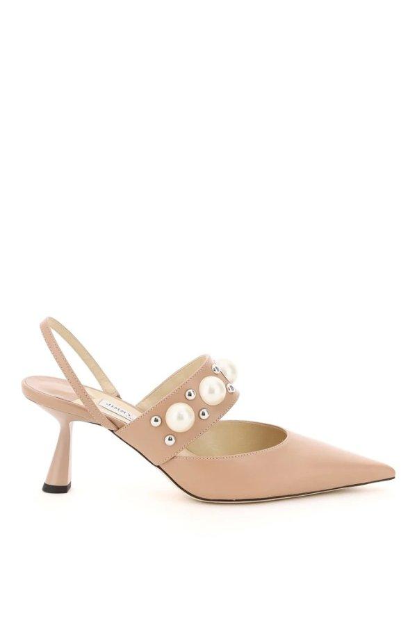 Berslin 65粉色珍珠高跟鞋