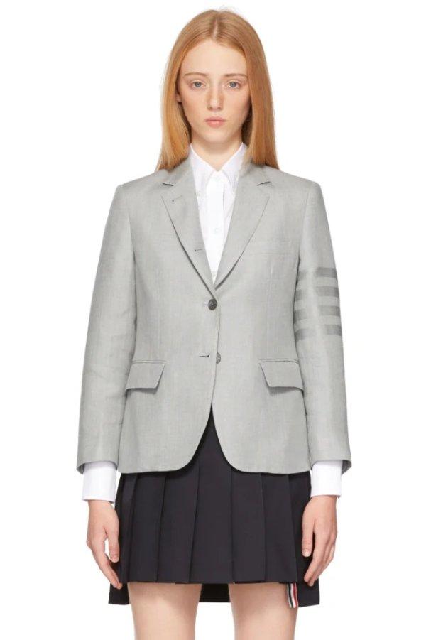 Grey Linen 4-Bar四条杆西装