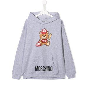 Moschino Kids棒球小熊卫衣