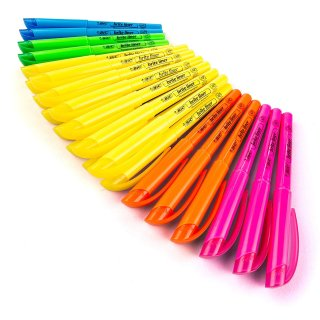 $6.69 Free ShippingBIC Brite Liner Highlighter, Chisel Tip, Assorted Colors, 24-Count