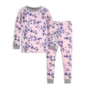 Burt's Bees BabyIndigo Flowers Snug Fit Organic Baby Pajamas