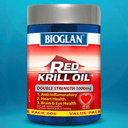 $19.99(原价$89.95)史低价:Bioglan Red Krill Oil 红磷虾油 1000mg 60粒