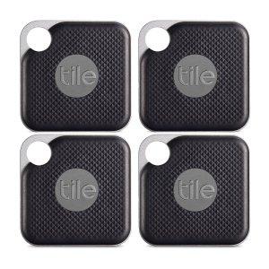 Tile Pro  物品追踪器 4个装 可更换电池