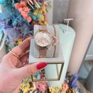 低至4折起 £18收小蝴蝶耳钉Olivia Burton 英伦首饰奥莱好价 收绝美北极光、闪耀花朵手表