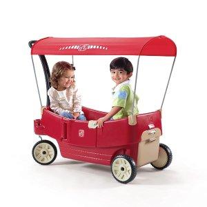 $109.93 (原价$179.99)Step2 All Around 带顶棚 双人四轮拖车
