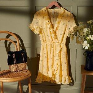 低至$4.99H&M 夏日拍照必备 田园碎花风美衣美裙